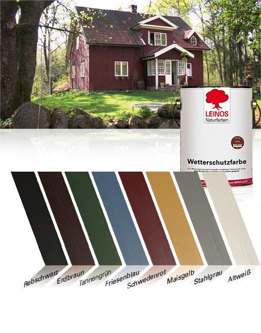 Top Wetterschutzfarbe auf Ölbasis 850 | LEINOS Naturfarben - Öle und YS98