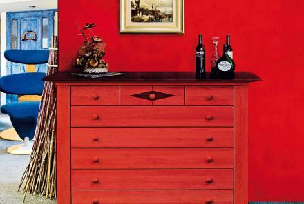 Farbige Möbel